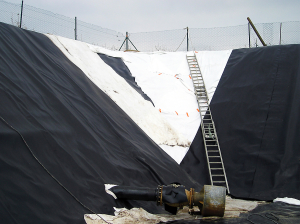 Pose de membrane PVC