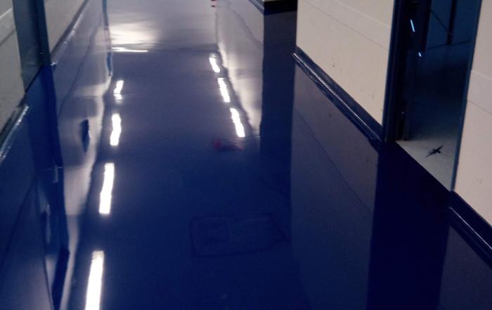 couloir terminé hôpital de Morlaix